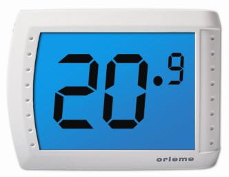 thermostat elektronisch mit touch screen orieme visio. Black Bedroom Furniture Sets. Home Design Ideas